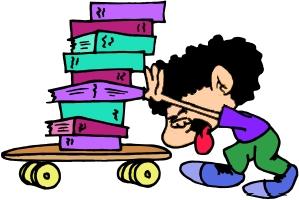 bambino con libri