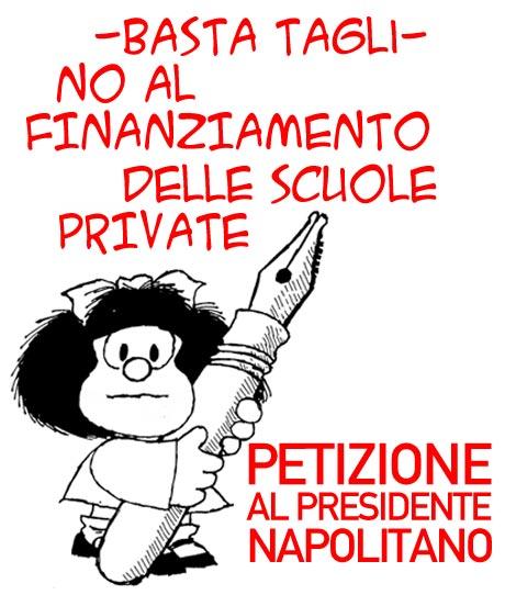 Basta Tagli - No al finanziamento delle scuole private